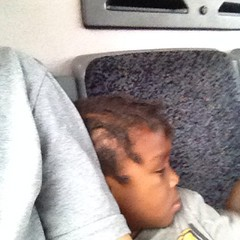 This little kid just wanted to snuggle on the bus ride home. #random #2 #cbus