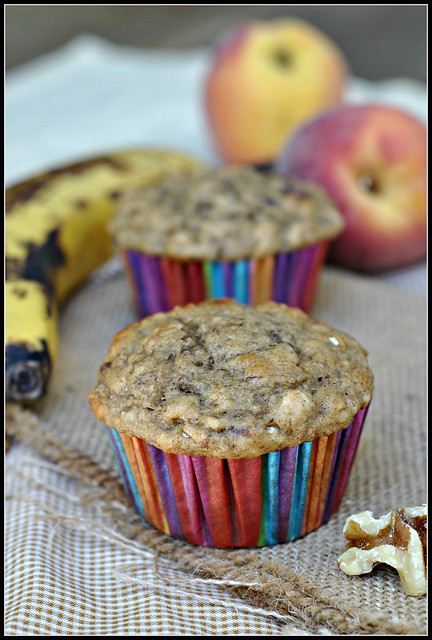 Healthy Banana Oat Muffins 1