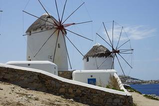 Windmills képe. architecture mykonos