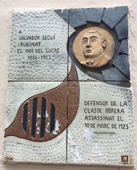 Photo of Salvador Seguí multicoloured plaque