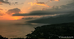The sunrise on Ikaria island Greece