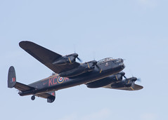 aviation, military aircraft, airplane, propeller driven aircraft, vehicle, avro lancaster, air show,