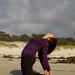 Back bend on the sand