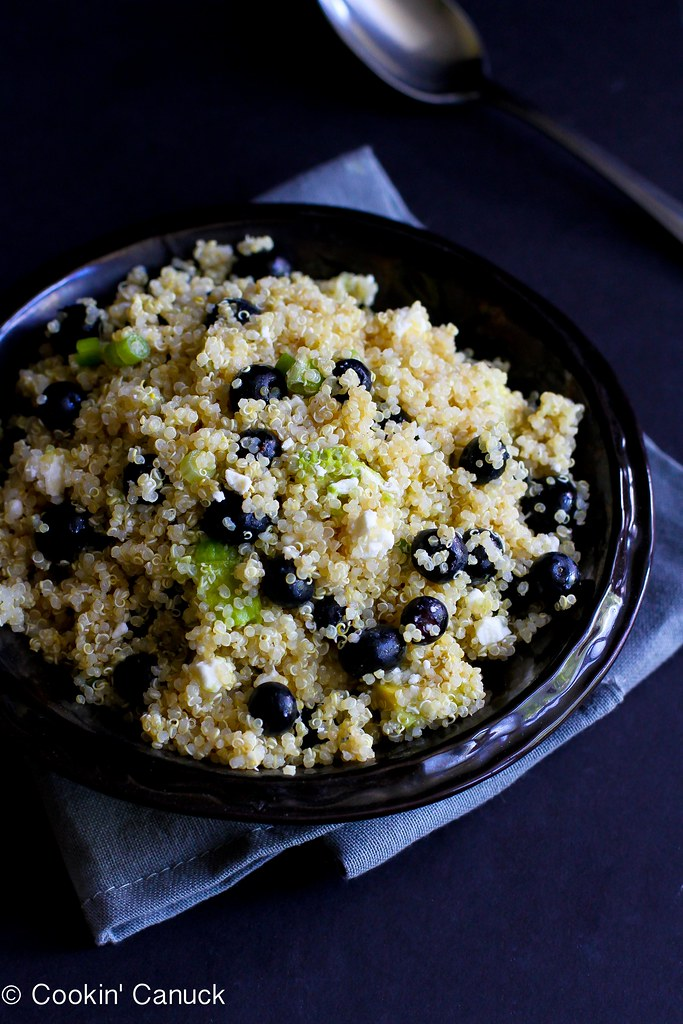 Quinoa, Blueberry & Avocado Salad Recipe | cookincanuck.com #vegetarian #MeatlessMonday