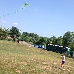 Teagan and I tried to fly #kites today. #wind wasn't sustained.