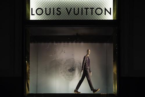 Louis Vuitton Dandelion window display