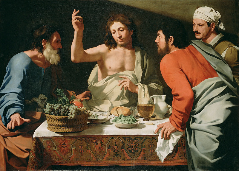 Attributed to Bartolomeo Cavarozzi - The Supper at Emmaus (c.1615)