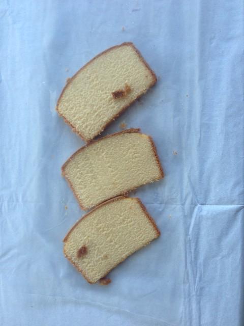 cake slices, pre-vacuum