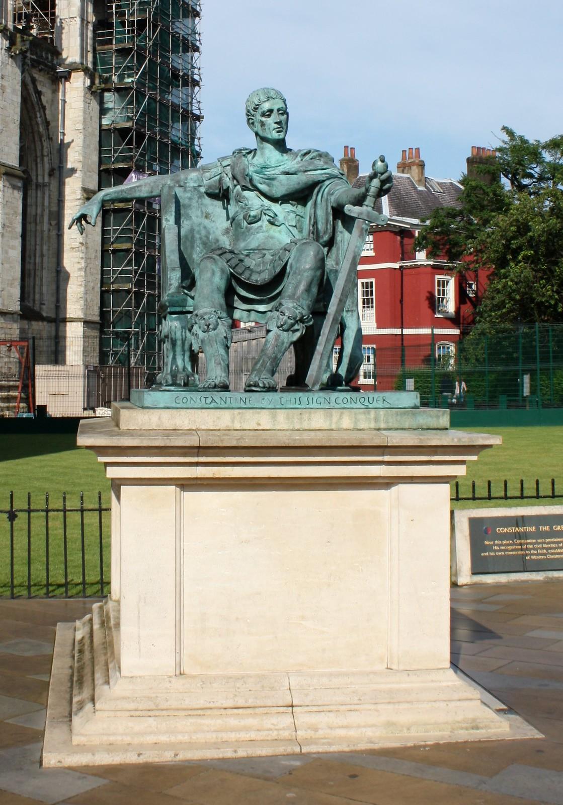 York Constantine Statue