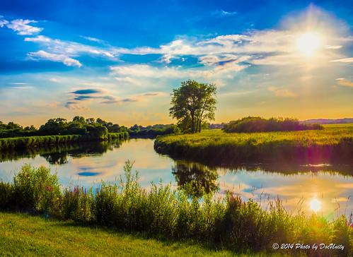 sunset sky sun nature clouds river germany deutschland flora sonnenuntergang natur himmel wolken addicted bremen fluss sonne hdr gegenlicht wümme blockland em1 norddeutschland greaterphotographers