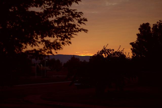 Sun starting to rise