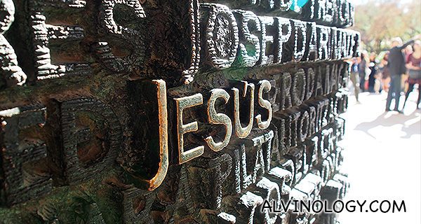Jesus in gold letters