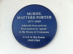 Photo of Muriel Matters-Porter blue plaque