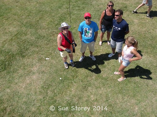 What's that black thing up there? At Penvins kite festival 2014