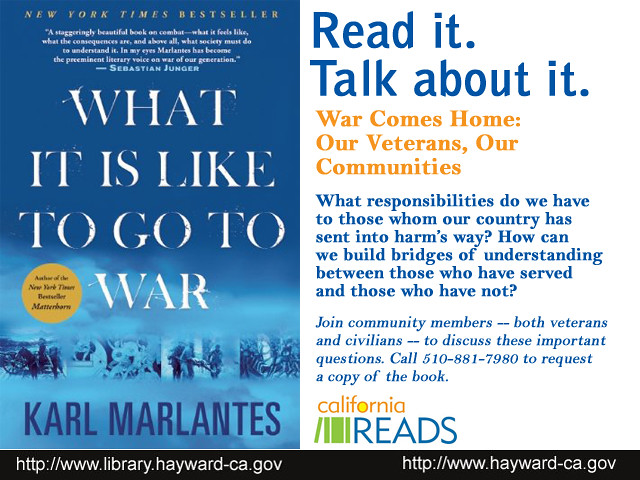 California Reads - What It Is Like to Go to War: Our Veterans, Our Communities