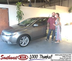 #HappyAnniversary to Whitney Moffitt on your 2012 #Kia #Forte from Michael Yaden at Southwest Kia Dallas!