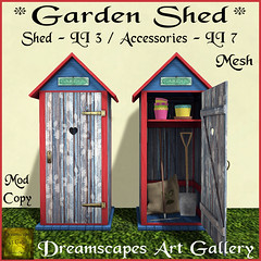 *Garden Shed* Blue - Dreamscapes Art Gallery for *The Collage*