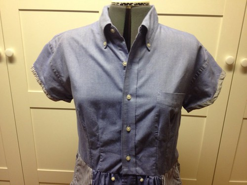Shirt-shirtdress bodice