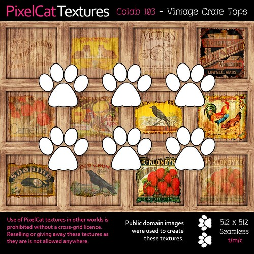 PixelCat Textures - Colab 103 - Vintage Crate Tops