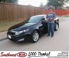 #HappyAnniversary to Sue Ruth on your 2013 #Kia #Optima from Kathy Parks at Southwest KIA Rockwall!