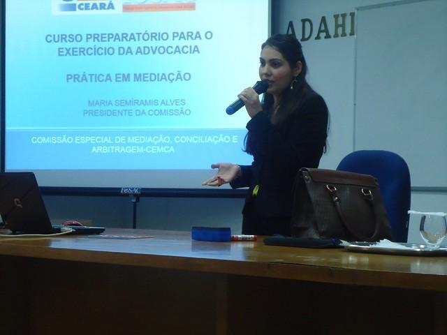 Prática em Mediação - Preparatório para Exercício da Advocacia – XXIX Edição, Professora Semírames