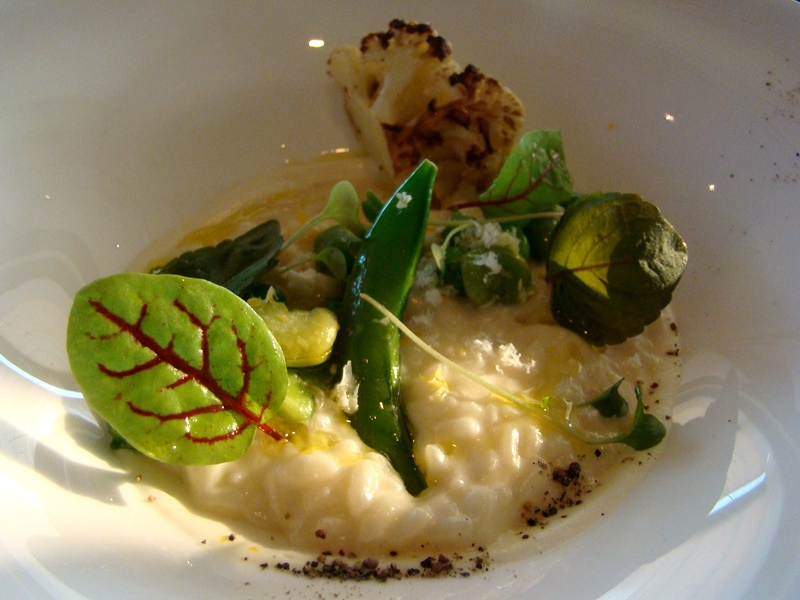 Cauliflower Risotto Canoe