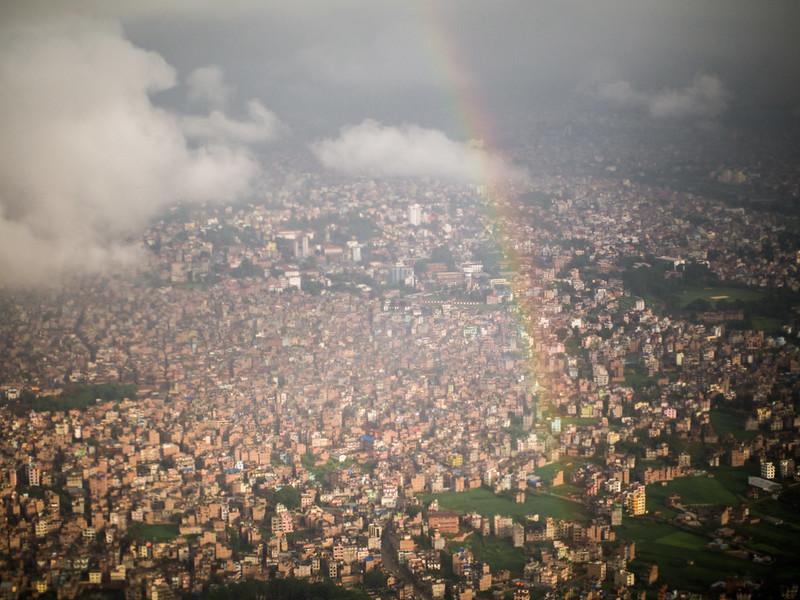 Rainbow over Kathmandu