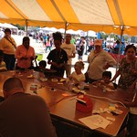 Zwena leading a paper speaker workshop at MakerFaire Detroit