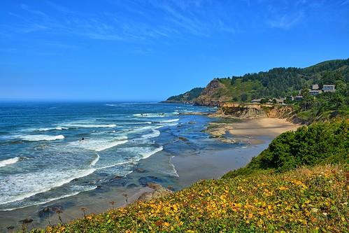 statepark park beach oregon mos coast nikon surf pacific scenic pacificocean newport wife oregoncoast devilspunchbowl 2014 lincolncounty gaylene easyhdr nikond7100 moswest