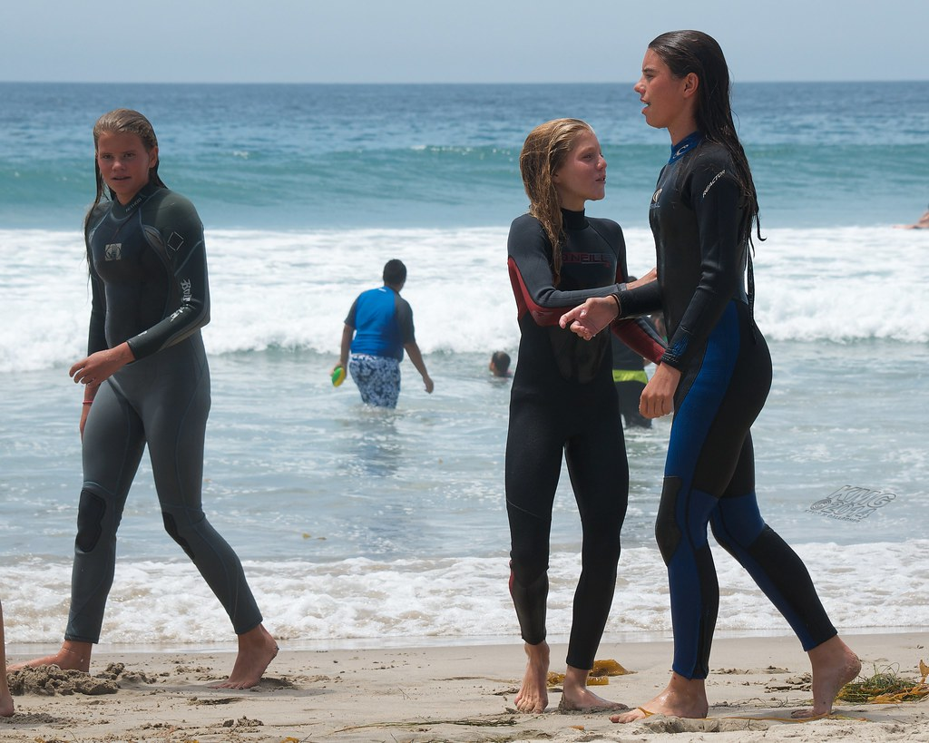 beach wetsuit at Girl
