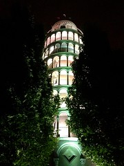 Leaning Tower of Pisa 1/2-size replica, Niles, Illinois, USA
