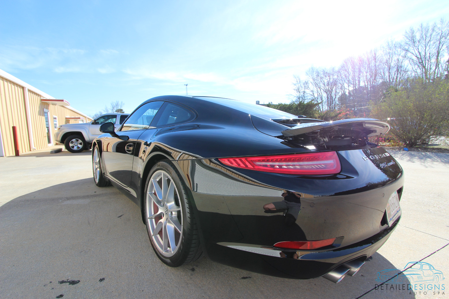 Porsche Clear Bra PPF car detailing