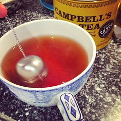 Warming up after my #alsicebucketchallenge with a gigantic cup of #campbellstea