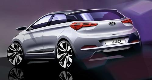 Hyundai i20 boceto