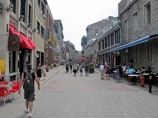 Old Montreal's Pedestrian Zone