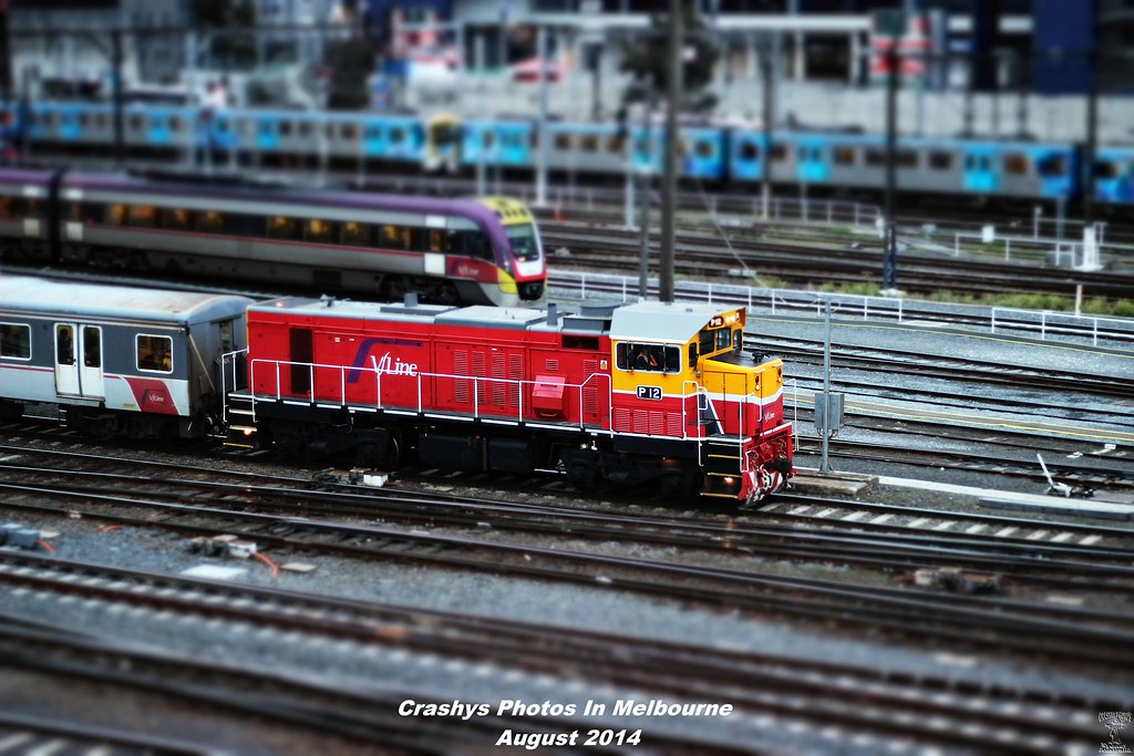 Tiltshifted P Class at Spencer St by Anthony