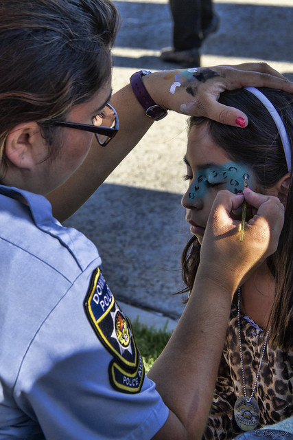 Downey 2nd Annual National Night Out face painting