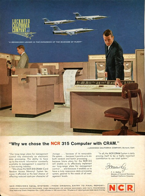 1963 NCR 315 Computer with CRAM Advertisement Newsweek October 21 1963