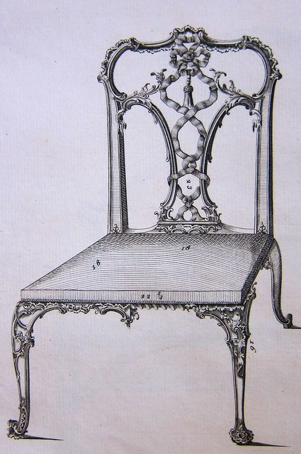 chippendale plate xvi ribband back chairs detail