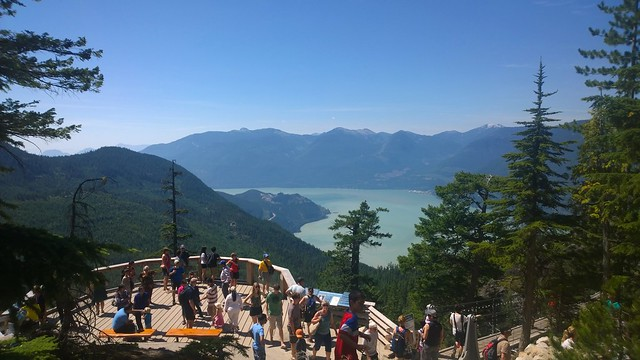 Busy day at the Sea to Sky Gondola