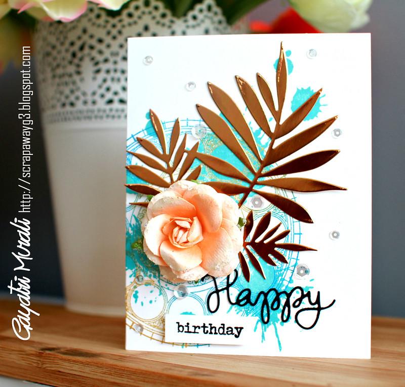 Happy Birthday card vertical