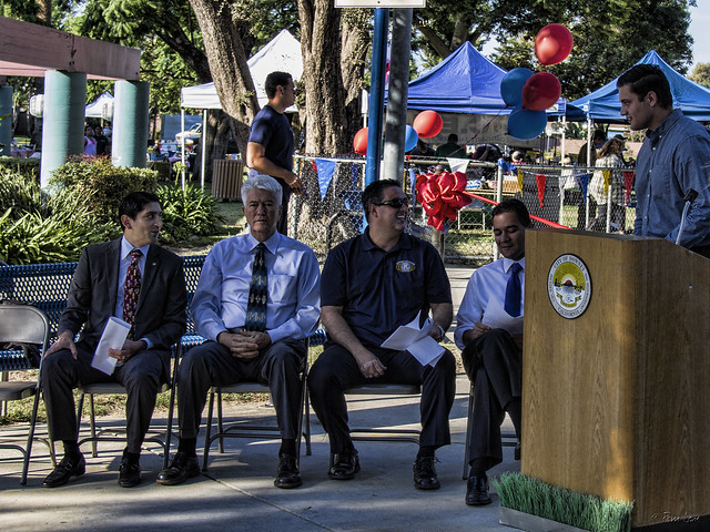 Furman Park playground ribbon-cutting ceremony