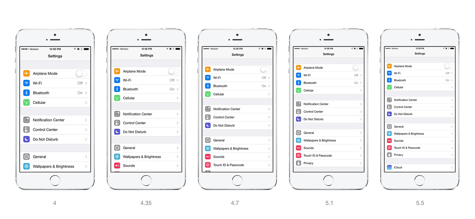 5.5 inch iPhone 6 Scaled Resolutions
