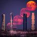 bola de fuego / Luna llena 11 agosto 2014 cuatro torres madrid ctba by j.martinez76