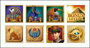 free Daring Dave and The Eye of Ra slot game symbols