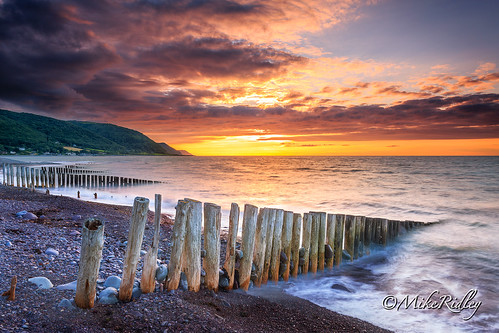 sunset seascape beach breakwaters bossington canonef1740f4l leefilters mikeridley canon5dmk3