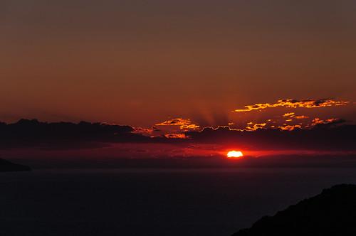 travel sunset greece plaka milos egeo plakamilos
