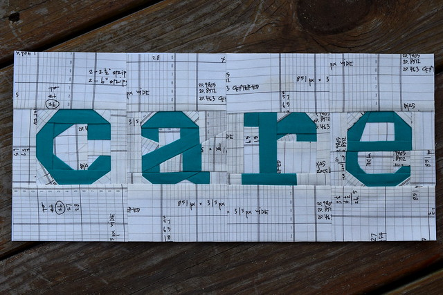Paper pieced Care