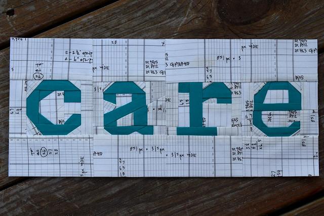 Paper pieced Care