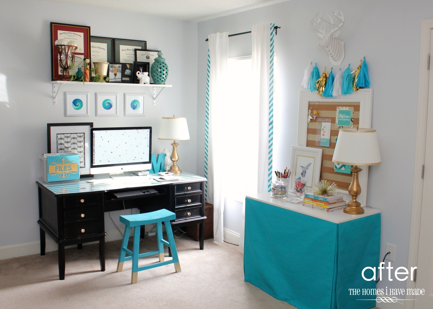 craft room home office design. Craft Room Office Reveal-006 Home Design I